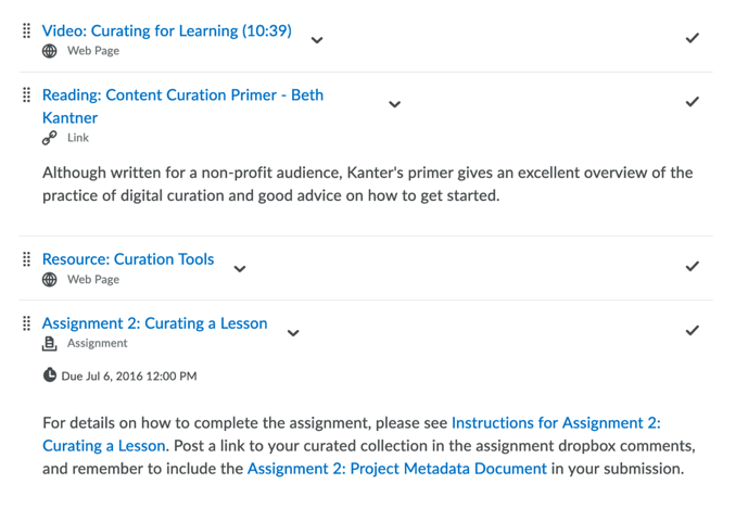 One method of labelling content descriptively that indicates the type of content item