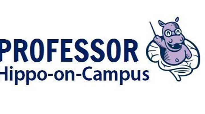 Professor Hippo on Campus Logo