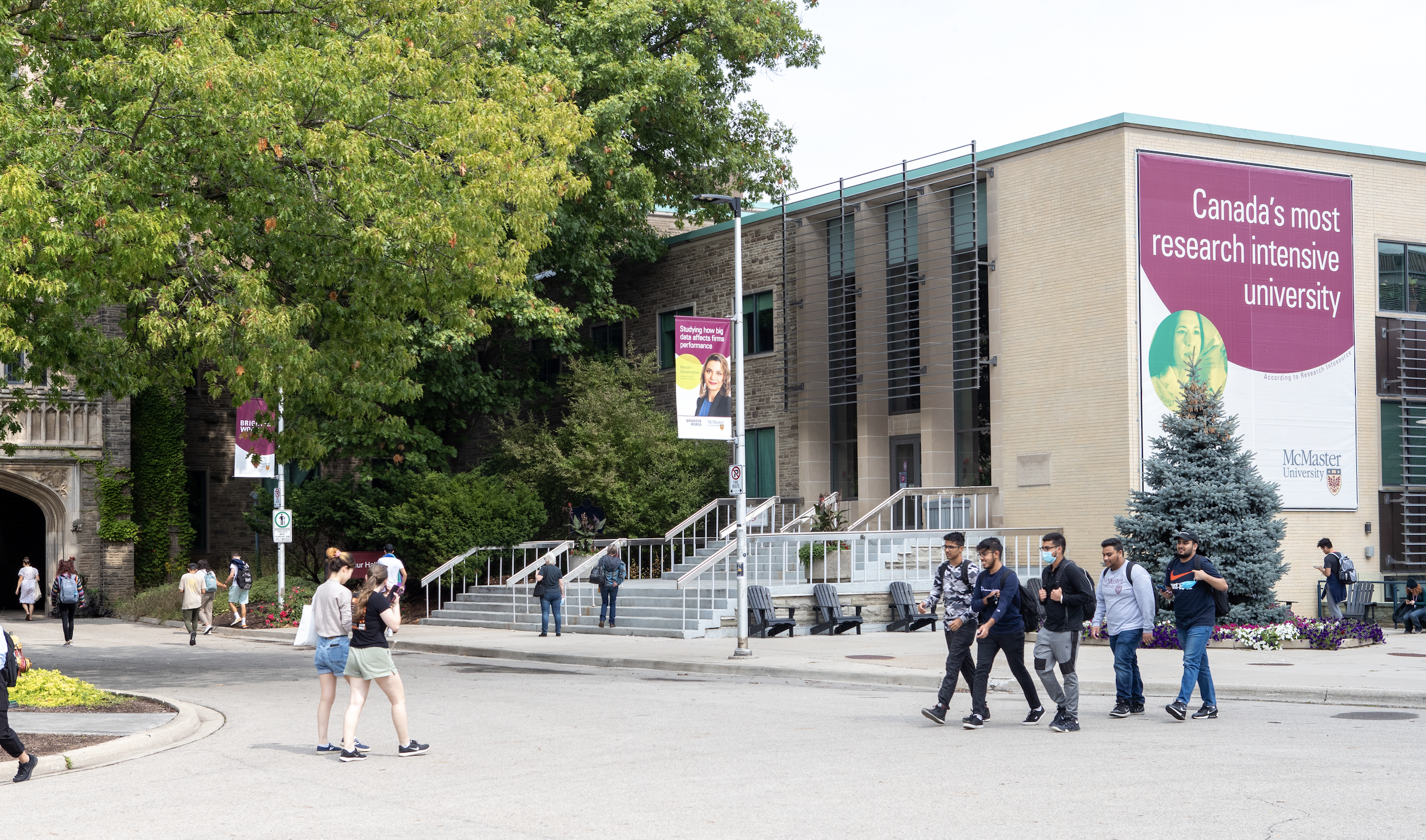 Students on McMaster Campus